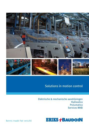 Solutions in motion control - Eriks