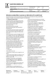 Allmänna avtalsvillkor privat - Hagfors
