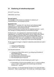 21. Etablering af enkeltmandsprojekt - Jammerbugt Kommune