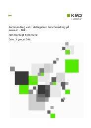 Sammendrag vedr. deltagelse i benchmarking på skole-it - 2011 ...
