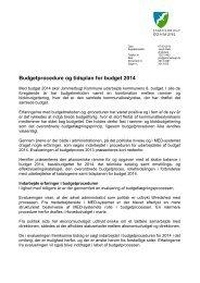 Budgetprocedure og tidsplan for budget 2014 - Jammerbugt ...