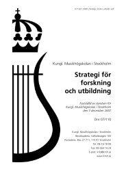 Strategi för forskning och utbildning