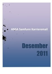 Då er karrieremailen for desember klar, denne gong 25 sider ... - Ansa