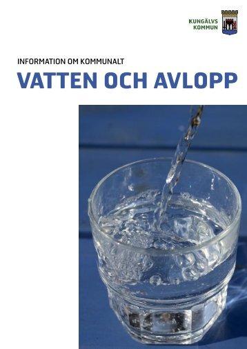 Informationsbroschyr om kommunalt vatten och avlopp i Kungälvs ...