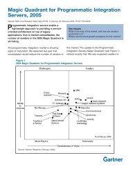 Magic Quadrant for Programmatic Integration Servers ... - Attachmate