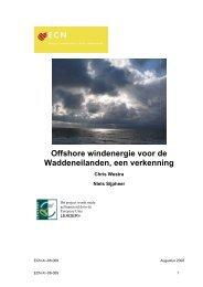 Definitief rapport offshore windenergie - Duurzaam Terschelling