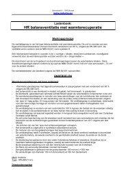 HR balansventilatie met warmterecuperatie - Codumé
