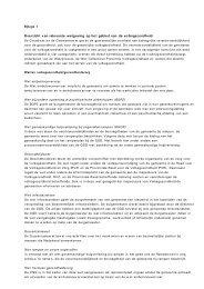 Overzicht van relevante wetgeving op het gebied van de ...
