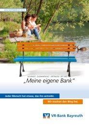 """""""Meine eigene Bank"""" - VR-Bank Bayreuth"""