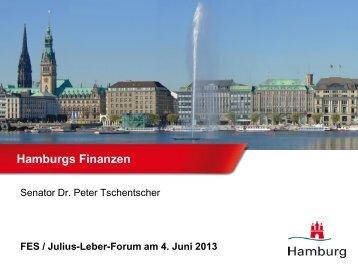 Hamburgs Finanzen - Julius-Leber-Forum