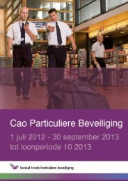 Cao 2012 - 2013 tot loonperiode 10 - Particuliere beveiliging