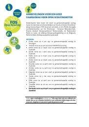 Aanbevelingen voor een goed vaargedrag - FOS Open Scouting