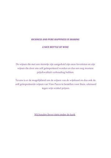 Wijn kaart 04022013 - Restaurant Rotisserie Zott