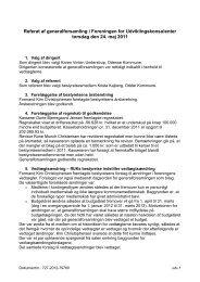 Referat af generalforsamling i Foreningen for ... - ffUK
