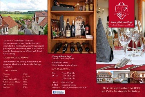 aktuellen Flyer herunterladen (PDF) - Trattoria Carpaccio & Hotel