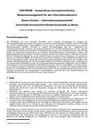 ENFORUM œ kooperatives konzeptorientiertes Wissensmanagement für ...