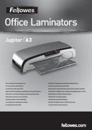 Fellowes Jupiter Laminator Instruction Manual - Office Machines