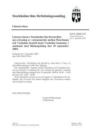 Stockholms läns författningssamling - Länsstyrelsen i Stockholms län