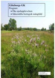 Miljöinventering 1.90 Mb PDF - Göteborgs Golf Klubb