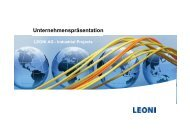 LEONI Business Unit Industrial Projects