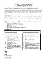 Projektmanagement in der Softwareentwicklung - pritcon GmbH