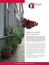 Folder Geveltuinen - Gemeente Nijmegen