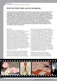 Brief van Peter Buck aan de werkgroep - Exemplarisch onderwijs