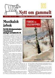 Nytt om gammelt - oktober 2009 - Fåberg og Lillehammer Historielag