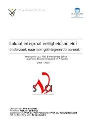 Lokaal integraal veiligheidsbeleid - Algemene Directie Veiligheid en ...