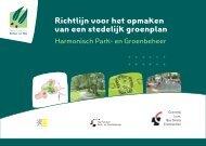 Richtlijn voor het opmaken van een stedelijk groenplan - Invexo