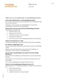 Frågor och svar om lagändringen av bostadstillägg tillsvidare