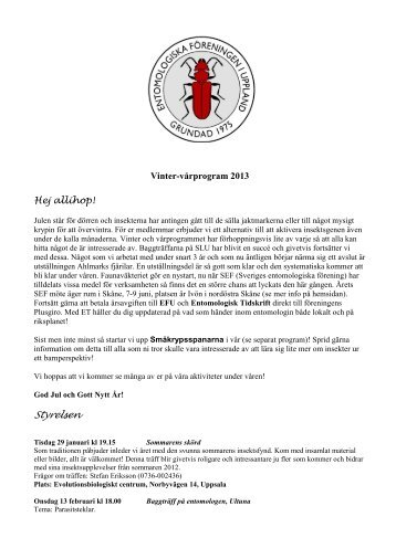 Styrelsen - Entomologiska Föreningen i Uppland