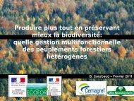 Produire plus tout en préservant mieux la biodiversité: quelle ... - BGF
