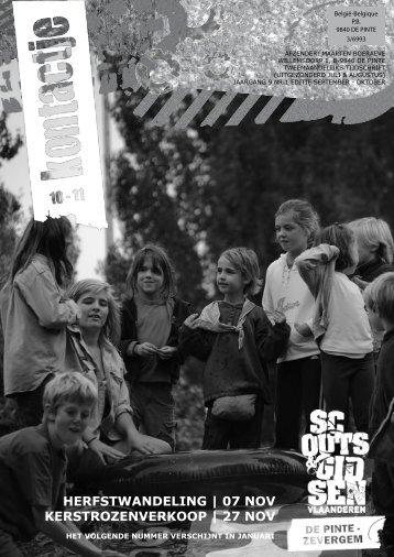 Kontactje 2010-2011 nr02 - Scouts en gidsen De Pinte