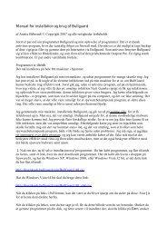 Manual for installation og brug af Bullguard - Spywareinfo.dk