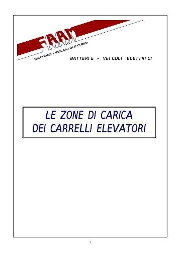LE ZONE DI CARICA DEI CARRELLI ELEVATORI - FAAM