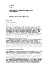 Verslag vergadering PS van Overijssel d.d. 26 juni 2002. - Provincie ...