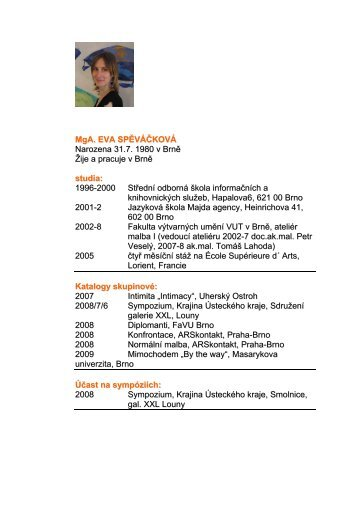 CV PDF - Galerie DOOKA