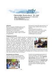 Lees meer - Christelijke Basisschool De Ark
