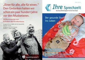 Ihre Sprechzeit Ihre Sprechzeit - Klinikum Stadt Soest