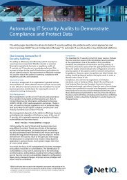 Automating IT Security Audits to Demonstrate ... - Attachmate