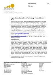 Japan-China-Korea Green Technology Forum 14 ... - Tillväxtanalys