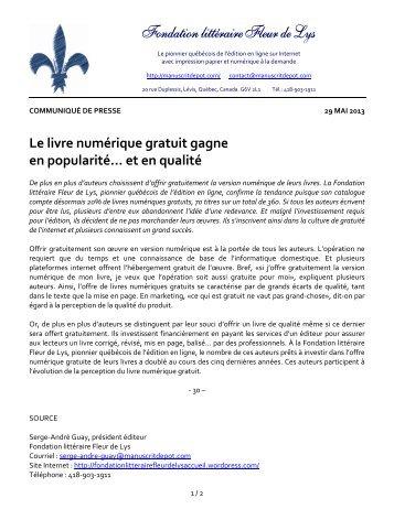 téléchargés - Fondation littéraire Fleur de Lys