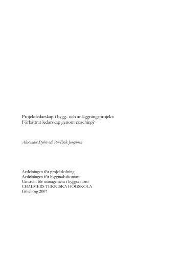 Rapport i pdf-format - CMB