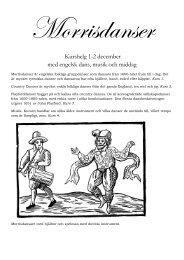 Kurshelg 1-2 december med engelsk dans, musik och middag