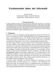 Fundamentale Ideen der Informatik - Didaktik der Informatik