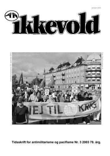 Bladet Ikkevold fra Aldrig Mere Krig - FRED.dk - Fred på Nettet