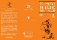 DE TEATRE - Mostra de Teatre d Alcoi