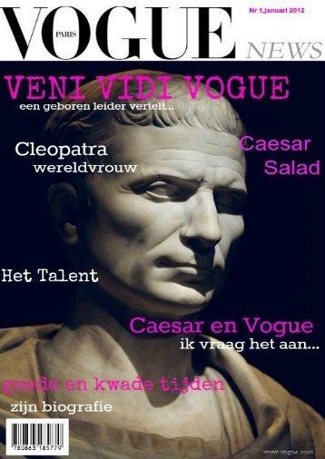 Vandaag mag ik een interview doen met Julius Caesar. Net als bij ...