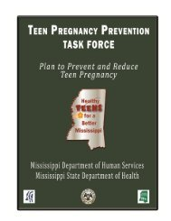 Plan to Prevent Teen Pregnancy in Mississippi - Mississippi State ...
